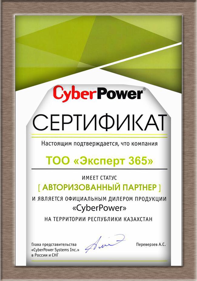 Сертификат CyberPower 2018