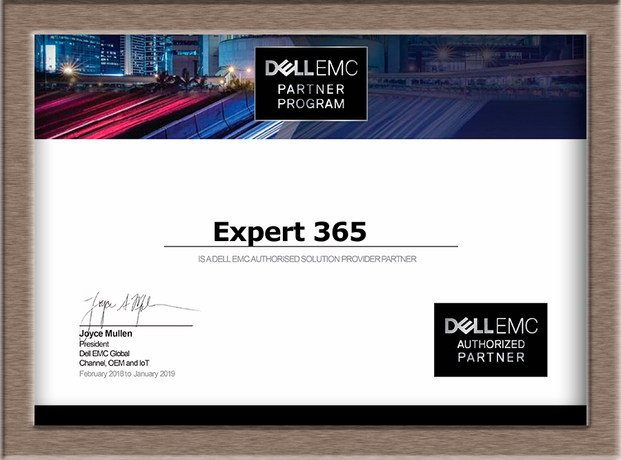 Сертификат Dell 2018