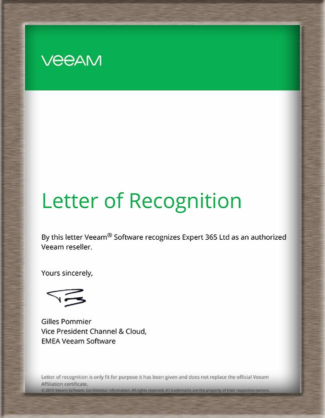 Сертификат Veeam 2019